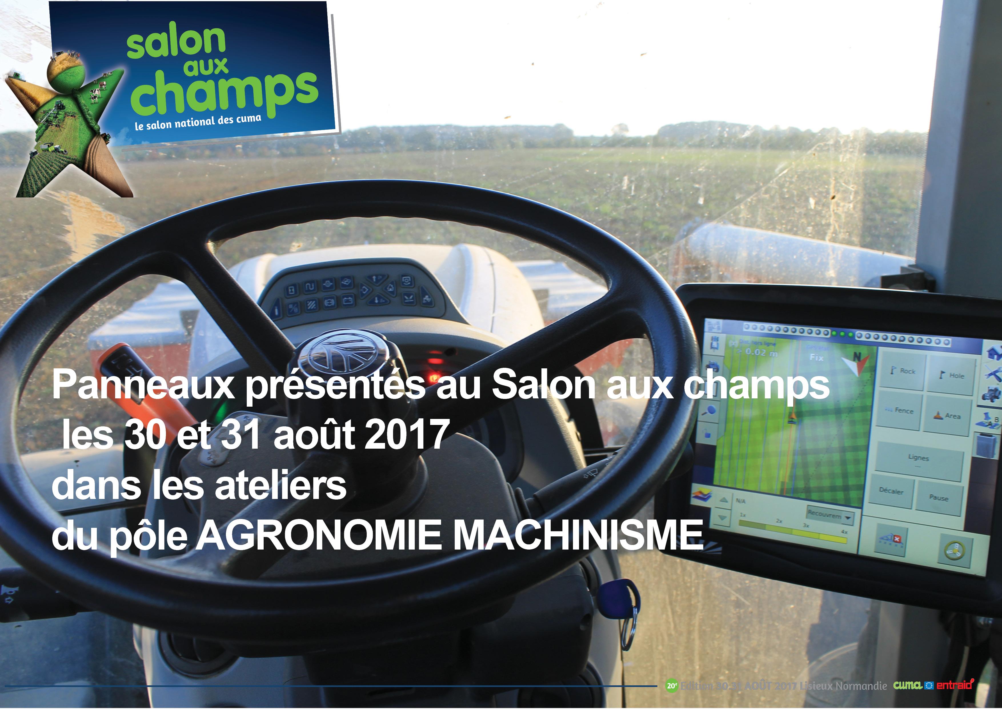 Agronomie machinisme panneaux salon aux champs 2017 for Salon aux champs